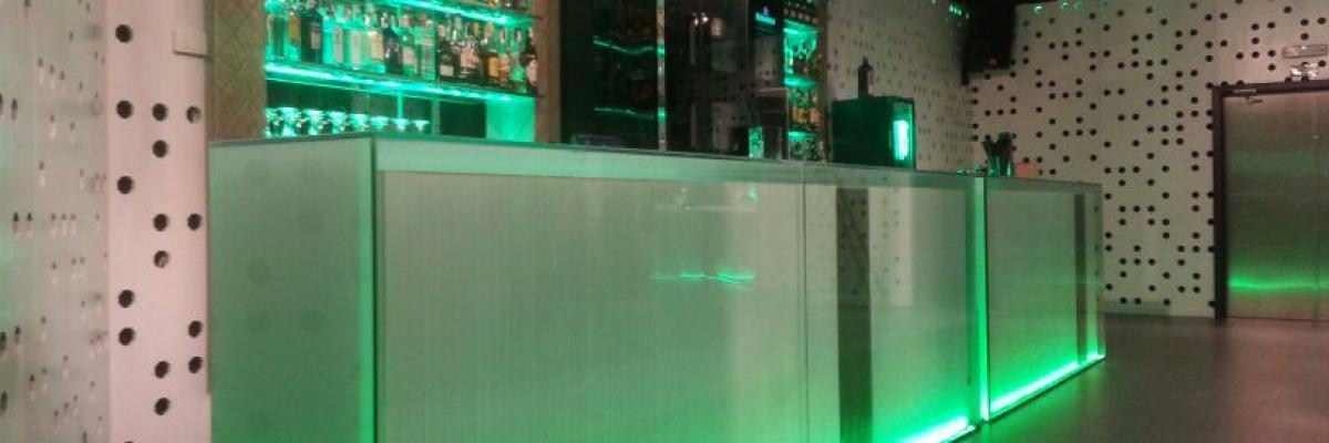 Barra con vidrio Laminar